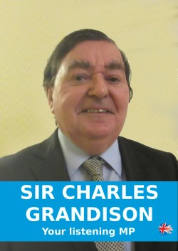 Election poster of Mike Smith as 'Charles Grandison, your listening MP'