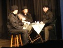 Brendan (Daniel Wright), Brian (Paul Gardner) and Robert (Steve Hill) prepare for their mission