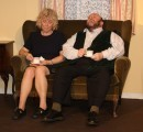 Colin sits with his bereaved wife May (Lesley Anderson) to comfort her